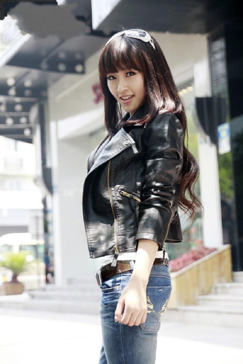 OLGITUM 18 Autumn Women Black Slim Cool Lady PU Leather Jackets Sweet Female Zipper Faux Femme Outwear Coat Plus Size JK254 14