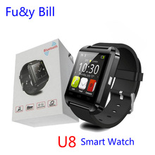 Free shipping New Fashion U8 Bluetooth Smart Watch Mobile Phone Sync Bluetooth Phone Call Step Motion Smart Watch
