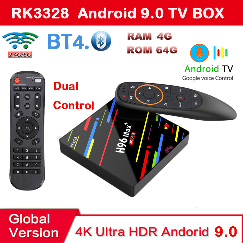 Android 9.0 TV Box H96 MAX Plus RK3328 4GB 64GB dual control 2.4/5G wifi USB3.0 HD2.0 support Youtube iptv google play H96MAXAndroid 9.0 TV Box H96 MAX Plus RK3328 4GB 64GB dual control 2.4/5G wifi USB3.0 HD2.0 support Youtube iptv google play H96MAX