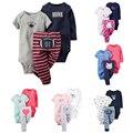 Детские Мальчики одежда девочки одежда набор, из трех частей детская одежда новорожденный набор ropa де invierno пункт bebes