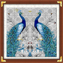 DIY Mosaic Diamond Painting Cross Stitch kits animal peacock full Resin round Drill Embroidery needlework Home Decor