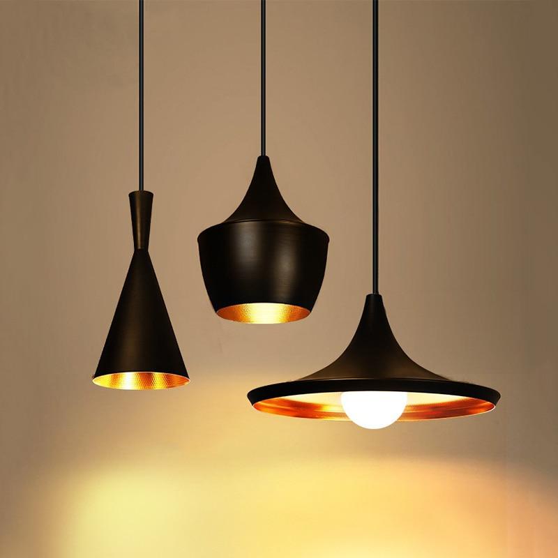 JAXLONG Nordic Pendant Lights Restaurant Bar Retro lighting Industrial Hanglamp Aluminum  Instruments Lustre Suspension Gallery