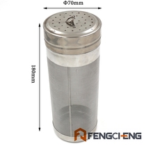 Free Shipping 2.5 Gallon Keg Dry Hop Filter ,7cm x 18.5cm, 300 micron Stainless Steel 304 mesh, Beer Filter