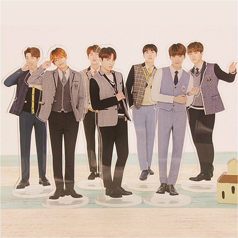 PCMOS Kpop BTS Acrylic Stand FAKELOVE Double Side Home Table