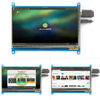 Rev2 1 Original 7 Inch HDMI LCD Screen Module Capacitive Touch For Raspberry Display Ultra Clear