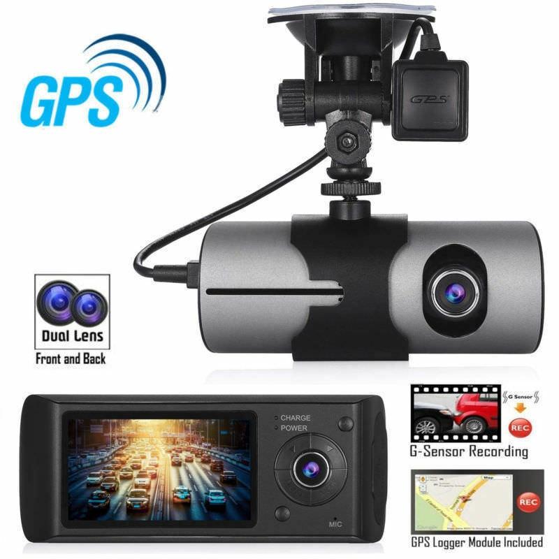 Video-Recorder Car-Accessory Gps Logger R300 Dvr-Camera Dual-Lens Full-Hd New