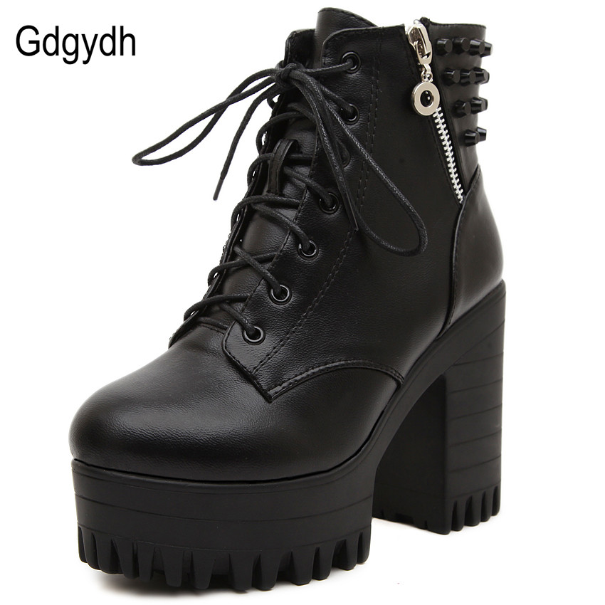 Uitgelezene Gdgydh Nieuwe merk 2018 lente herfst vrouwen laarzen platform hoge NP-41
