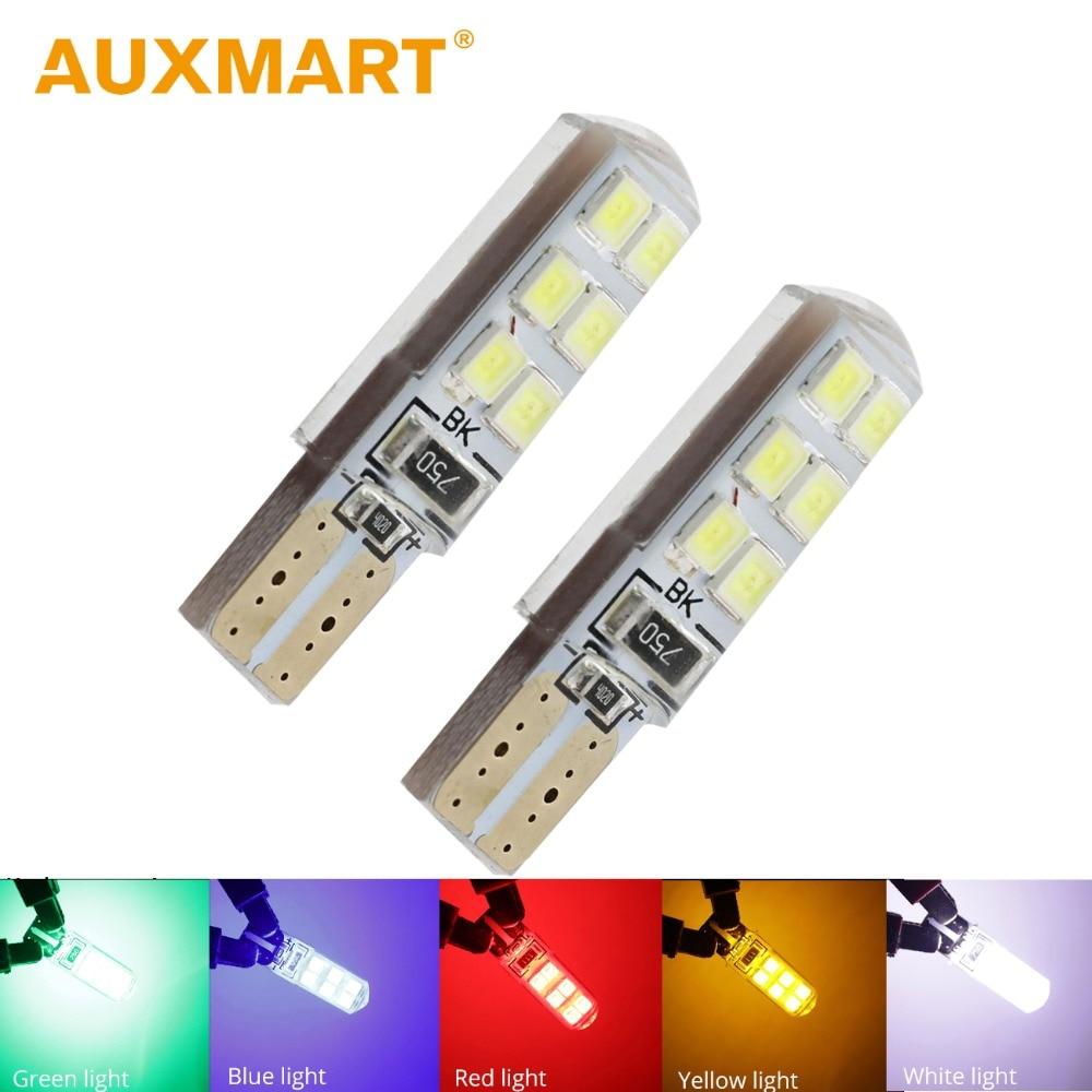 10PCS White T10 W5W 5730 6 SMD 180 Lumens LED Car Light Wedge Lamp Auto Bulb 168