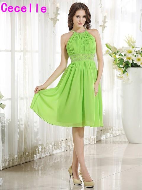 Vestidos de dama color verde manzana  Vestidos negros