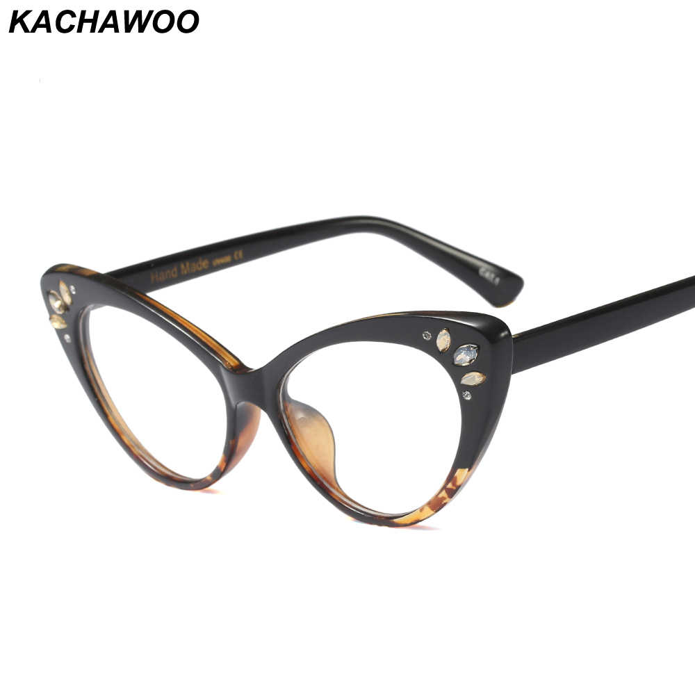 e4d204893 Detail Feedback Questions about Kachawoo Wholesale 6pcs Cat Eye Eyeglasses  For Women Optical Brown Purple Sexy Ladies Glasses Frame Rhinestones  Decoration ...