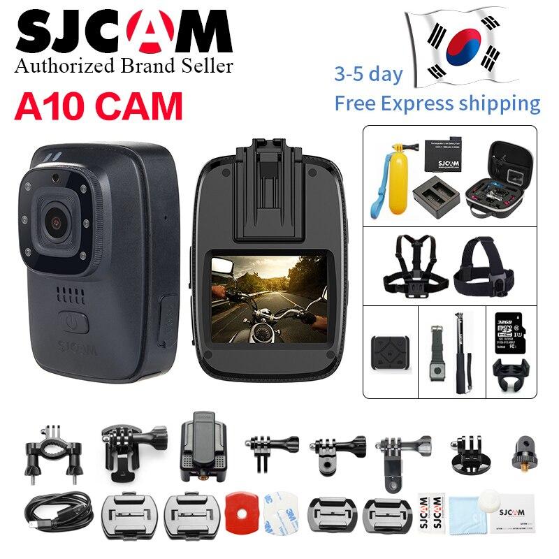 Novo! SJCAM A10 Wearable Bodycam Cam Câmera Portátil Câmera de Segurança de Infravermelho IR-Cut Night Vision Câmera Ação de Posicionamento Do Laser