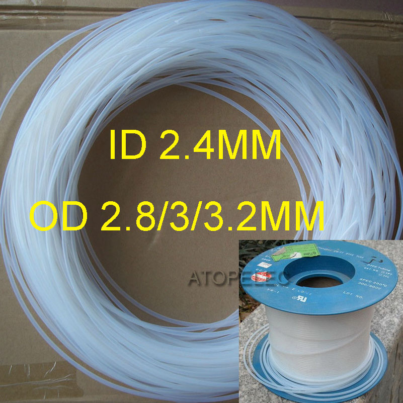 PTFE F4 Tubing (ID/_0.7mm OD/_1.0//1.2//1.3mm )Rigid Translucent Pipe