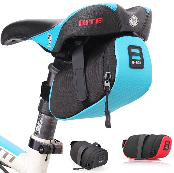 רכיבה על אופניים אוכף מושב תיק לאופניים 600D ניילון אחסון אוכף תיק מושב רכיבה על אופניים זנב אחורי שקיק שחור / אדום / כחול