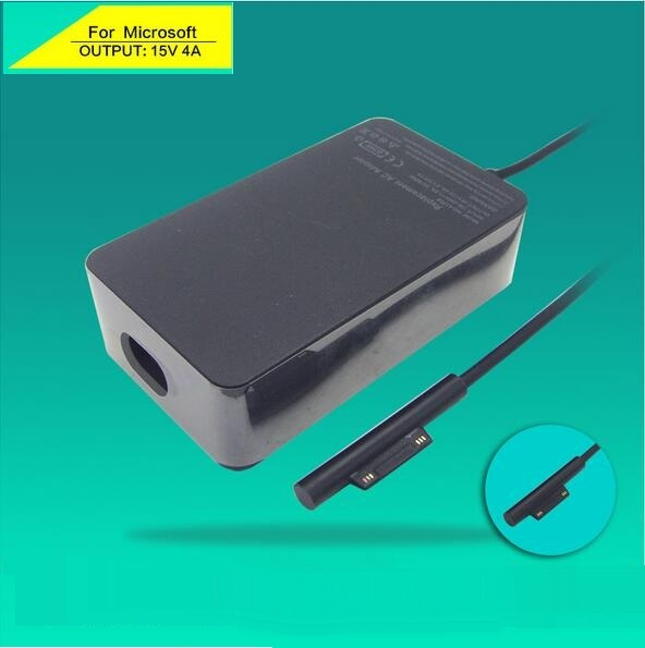 100% genuino 15 V 4A 65 W adaptador de CA de carga para ordenador portátil para Microsoft Surface Pro 4 Tablet Surface Book A1706 con Puerto de alimentación USB de 5 V 1A