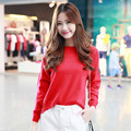 ALKMENE Solid Women Wool Knitted Sweater 2017 Cashmere Pullover Sweater Leisure Lady Knitted Loose women Sweater Pullover