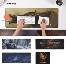 Babaite Your Own Mats Game Of Throne  Natural Rubber Gaming mousepad Desk Mat Free Shipping Large Mouse Pad Keyboards