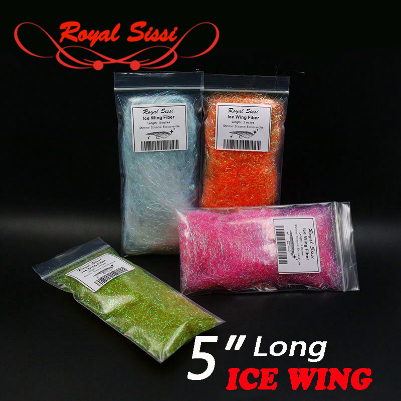 7optional colors fly tying ice wing 12cm(5inches) long ice wing fiber synthetic wings tying material sparkle body Living Fibers