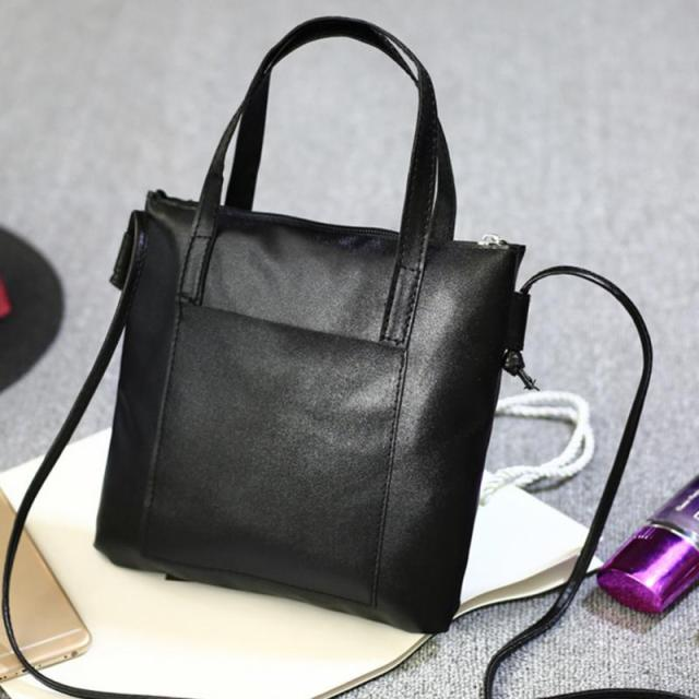Soft PU Leather Handbags Crossbody Bags for Women 2018 Fashion Shoulder Bag Tote Bag Ladies Messenger Bag Bolsos Mujer Black Red 3