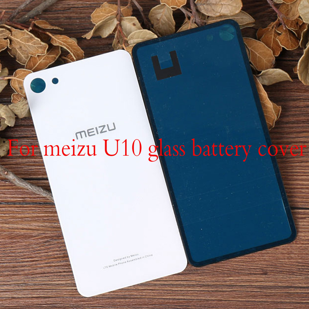 Battery Back Cover For Meizu U10 Back Glass Rear Door Housing Replacement For Meizu U 10 Battery Cover With Sticker Adhesive To Be Renowned Both At Home And Abroad For Exquisite Workmanship, Skillful Knitting And Elegant Design