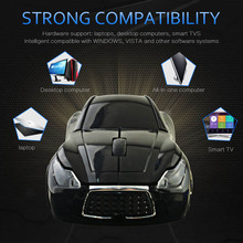 2 4GHz Wireless Cordless Optical Mouse Car Shape Mice USB Receiver for font b PC b