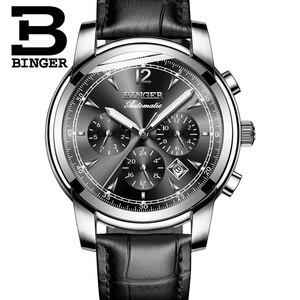 Image 3 - Szwajcaria automatyczny zegarek mechaniczny mężczyźni Binger luksusowej marki zegarki męskie Sapphire zegar wodoodporny reloj hombre B1178 20