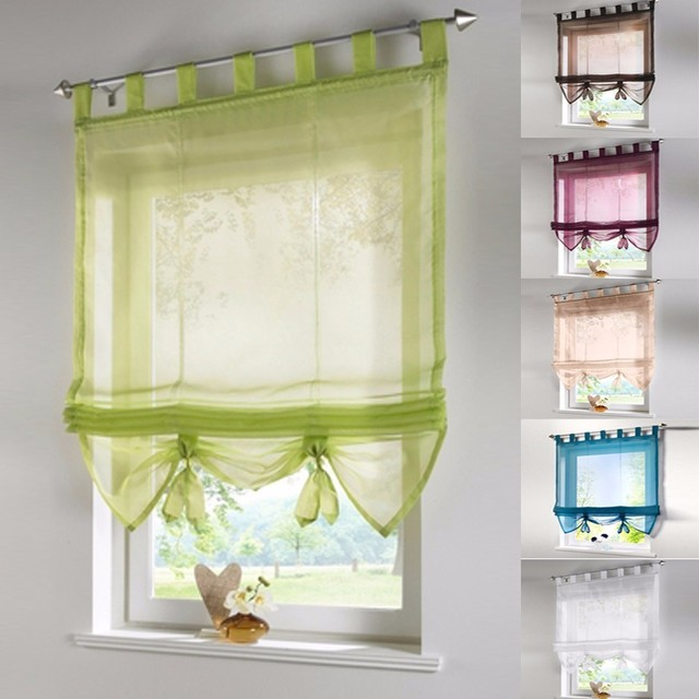 Vertical Blind Tulled Curtains Jacquard Roman Blinds