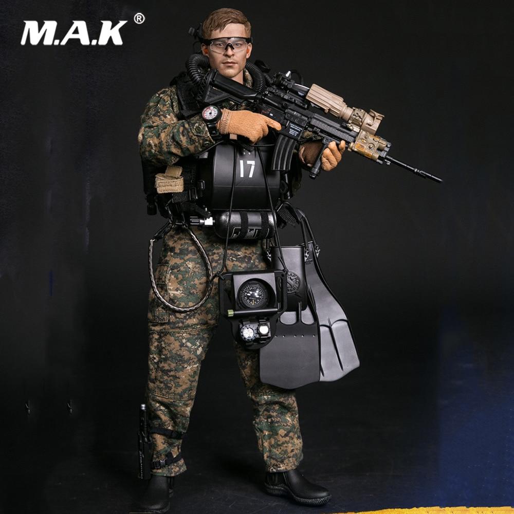 Marine Force Recon Combat Diver Woodland Marpat Version 1//6 Dam Toys 78055 USA