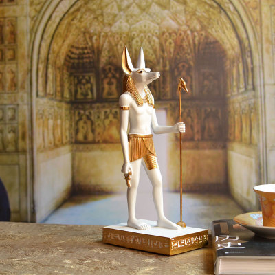 US $43 42 13% OFF|mummy returns an ancient Egyptian deity known as the  anubis dog poses with tourist souvenir from the god horus room statue-in