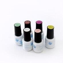 60 Colores de Uñas de Gel Polaco del Gel Soak-off de Uñas de Gel UV LED de Larga duración 6 ml 1 Unids verano Caliente Del Gel Del Clavo 21-40