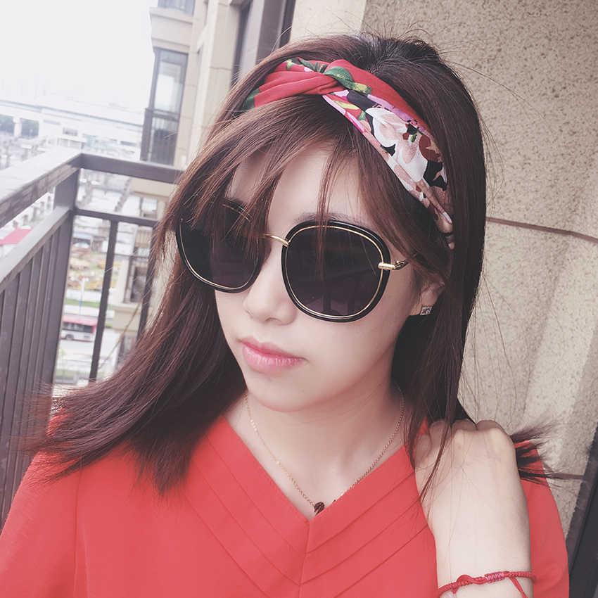 Kobiety lato styl boho Hairbands drukuj opaski dla kobiet krzyż w stylu retro węzeł Turban opaski do włosów