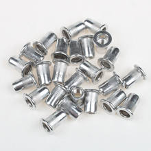 25 Pcs Perak Furniture M5 Ulir Rivet Nut Kepala Ringan(China)