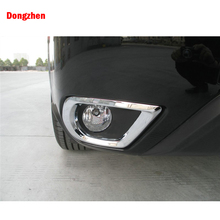 Dongzhen 2PCS Car Front Fog Light Lamp Cover Trim Protection Frame Modified For Subaru Forester 2013 Exterior Accessories