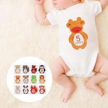 12 шт Новорожденные детские наклейки на каждый месяц ребенок беременная женщина ежемесячная фотография наклейка для 1-12 месяцев вехи воспоминания фото реквизит
