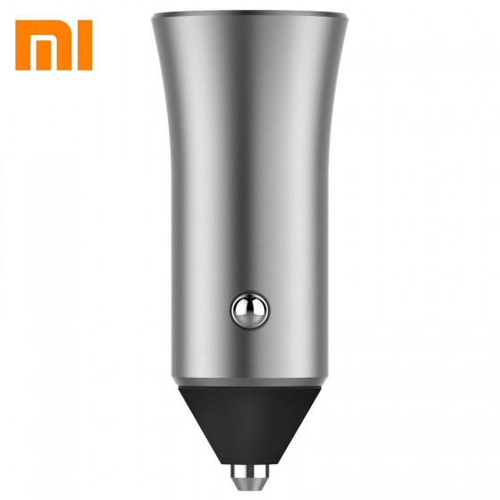 Image 3 - Xiaomi Dual USB Car Charger 18W Quick Charge 3.0 fast charge smart output light tips 12V/1.5A + Magnetic Car cellphone holder-in Car Chargers from Cellphones & Telecommunications