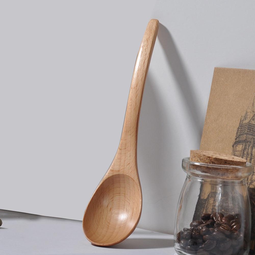 Houten Lepel Vork Bamboe Keuken Kookgerei Gereedschap Soep-theelepel Servies Draagbare Servies Vork Voor Keuken Bar Zacht En Licht