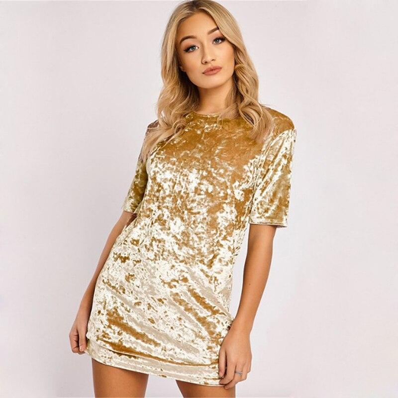 Spring Summer velvet dress women short-sleeved HTB1iUCGldfJ8KJjy0Feq6xKEXXao