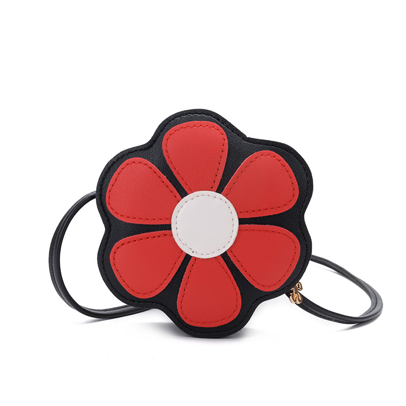 Korean Kids Mini Bag Fashion Girls  Shoulder Bag PU Leather Crossbody Bags for Children Cute Flower Purses Small Circular PouchKorean Kids Mini Bag Fashion Girls  Shoulder Bag PU Leather Crossbody Bags for Children Cute Flower Purses Small Circular Pouch