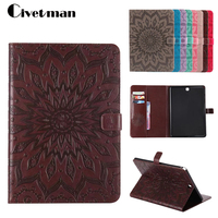 Luxury Embossing Case For Samsung Galaxy Tab A 9 7 Inch SM T555 T550 Tablet PU
