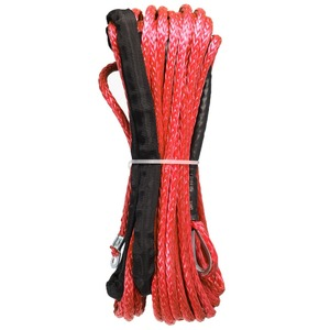 Image 5 - New Arrivals 15m*6mm 7000lbs Red Winch Rope Synthetic Cable Line With Hook For ATV UTV Off Road