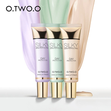 O.TWO.O 3 Colors Primer Base Soft Cream Brighten Skin Natural Oil Control Face Base Makeup Primer Face Concealer недорого