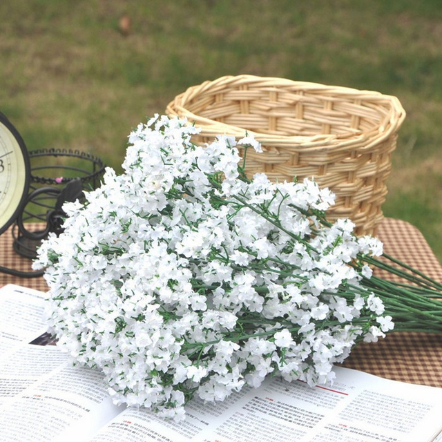 Artificial flower Pastoral flower diy flower for Home Decor Wedding decoration Bridal Flowers 2forks