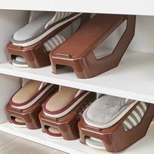 Kunststoff Doppel Schuhkarton Schuh Lagerung Regal Schuh Rack Doppel Schuhe Organizer Haushalts Einstellbare Speicher Halter Für Wohnzimmer