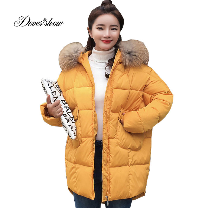 Hooded Fur Collar Winter   Down     Coat   Jacket Long Warm Women Cotton-padded Casaco Feminino Abrigos Mujer Invierno Parkas Outwear 06