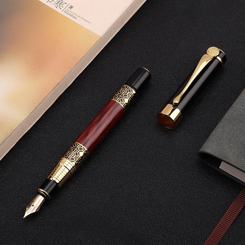 1pcs High Quality Classical Fountain Pen Wood Grain High-grade Business Pen Metal Signature Fountain Pen