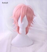 Ayato Yuri Pink Wig Cosplay Halloween Synthetic Hair Anime Yarichin Bitch Bu Club Role Playing Hair for Adult