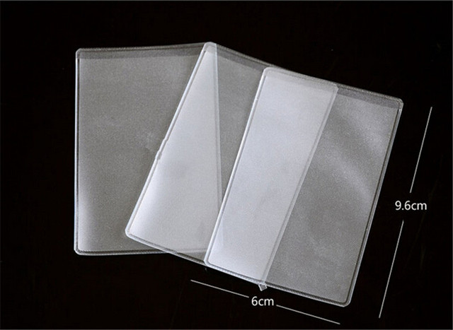 10pcs clear card holders soft plastic credit card protectors bussiness card cover id holders 96x6cm - Plastic Credit Card