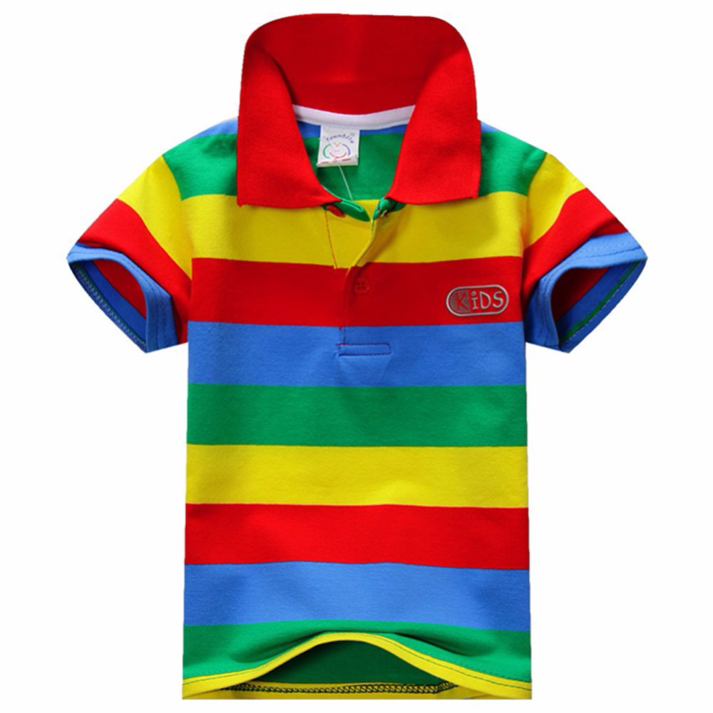 New Summer 1-7Y Baby Children Boys Striped T-shirts Kids Tops Tee Polo Shirts Clothing все цены