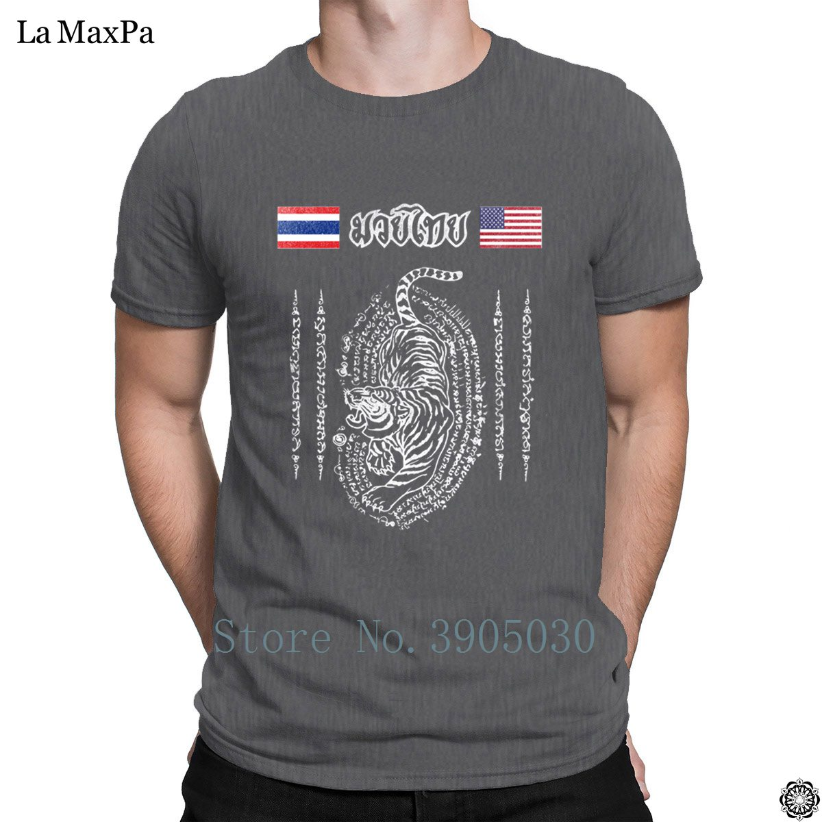 Slogan Authentic T Shirt Muay Thai America To Thailand Tiger For Men Uni Tshirt Xl Leisure Tee Top