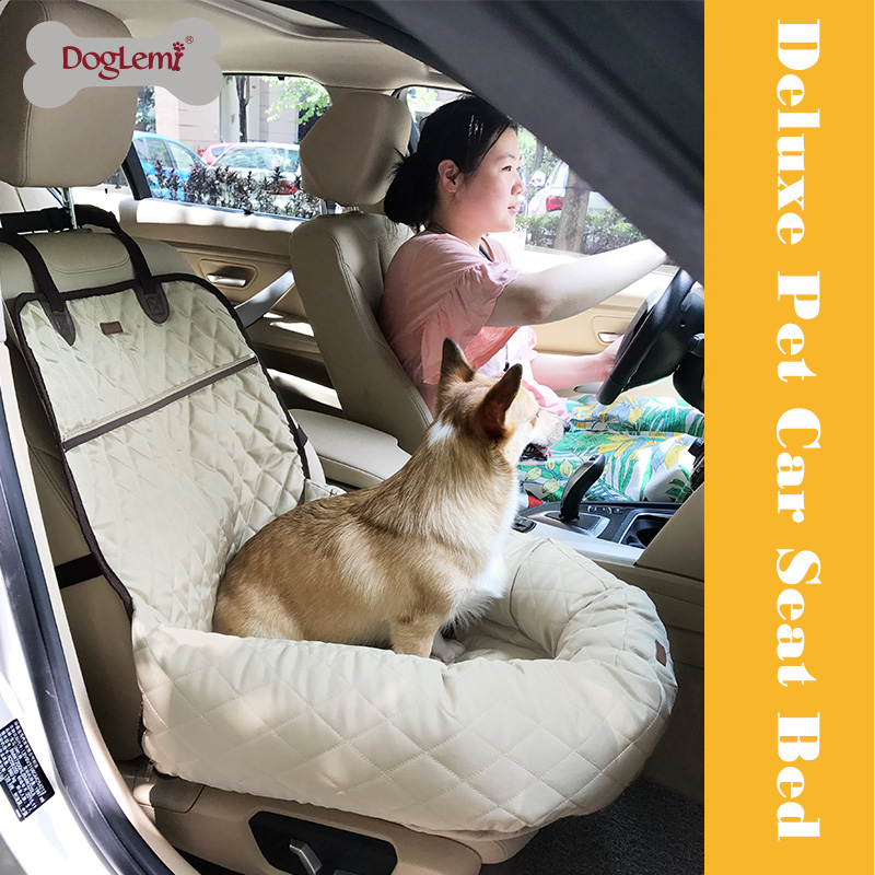 DogLemi Funtional Pet Booster Bed Deluxe Dog Pet Car Seat Cover Bed&Lounge