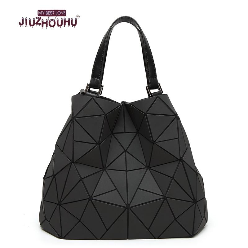 geometric laser shoulder handbag women big European style luminous large small bags tote fashion women s